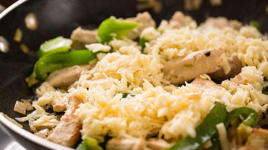 Burrito de Pollo y Queso Paso 2