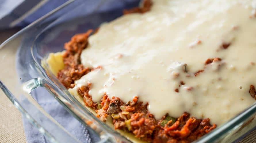 Lasagna de Atún Paso 4