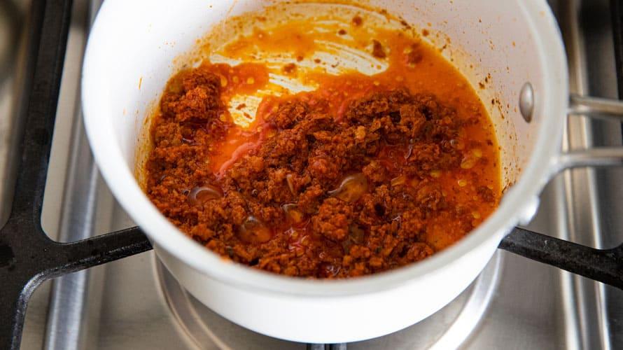 Sopa de Frijol Paso 4